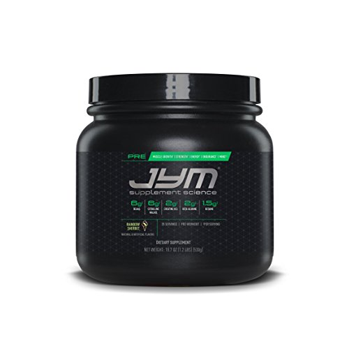 Pre JYM Pre Workout Powder - BCAAs, Creatine HCI, Citrulline Malate, Beta-Alanine, Betaine, and More | JYM Supplement Science | Rainbow Sherbert Flavor, 20 Servings