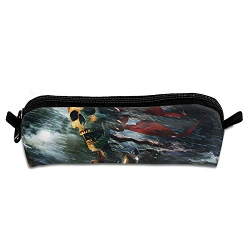 Pirates of The Car-ibbean Pencil Case Canvas Pencil Holder Zipper Pouch Makeup Bags Pencil Bags for Office Students ()