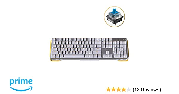 James Donkey 619 Mechanical Keyboard Blue Switch GATERON 104 Key 50 Million  Click Programmable 13 Customize Backlit LED NKRO Anti Ghosting Aluminum