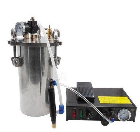GOWE semi - automatic single - liquid dispenser stainless steel pressure barrel equipment note dispensing valve plug color:1L by Gowe