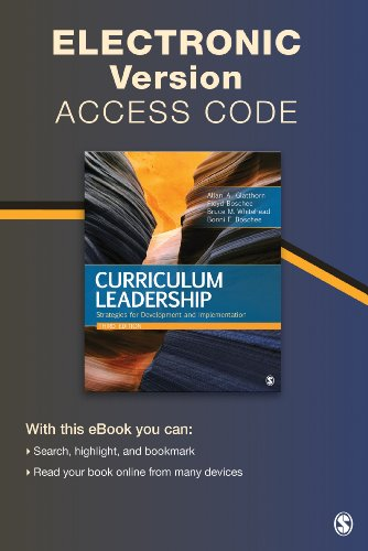 Curriculum Leadership Electronic Version: Strategies for Development and Implementation