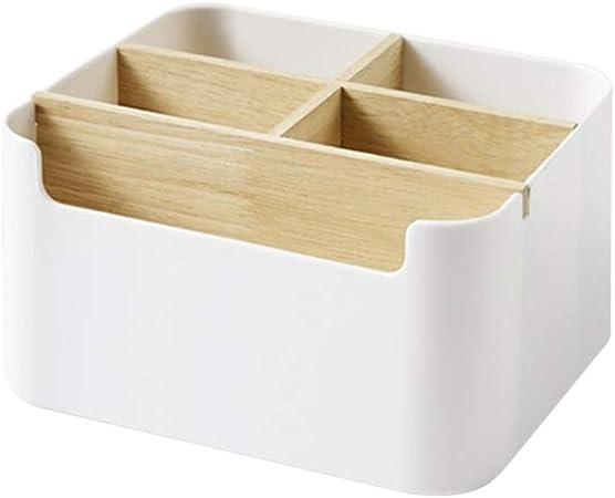 OUNONA - Organizador de escritorio multiusos para escritorio, papelería, caja de almacenamiento para mando a distancia: Amazon.es: Hogar
