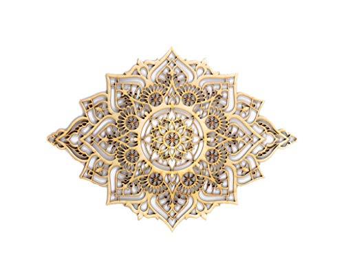 Mandala Wood Home Decor, Boho Ethnic Housewarming Wall Hanging, Morrocan Indian Wall Art, Sacred Geometry Yoga Studio, Unique Handmade Spiritual Gift by Tohar Wood Design (Image #2)