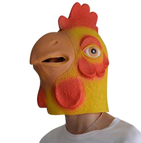 Harrington Marley Funny Latex Chicken MASK Horror Halloween Scary Fancy Dress COCKEREL Costume ()