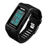 Unisex Quartz Digital Outdoor Sports Watch for Men Women Pedometer Calorie LED Electronic