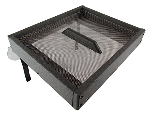 JCs Wildlife Easy Clean Gray Poly Window-Mount Platform Bird Feeder USA Made (Platform Mount Window)