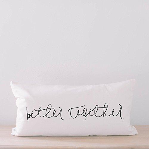 Lumbar Pillow - Better Together, home decor, wedding gift, engagement present, housewarming gift, cushion cover, throw pillow