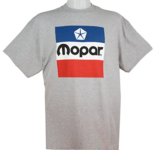 - Vintage Chrysler - Mopar Pentastar Logo T-Shirt 100% Cotton - Preshrunk - Grey