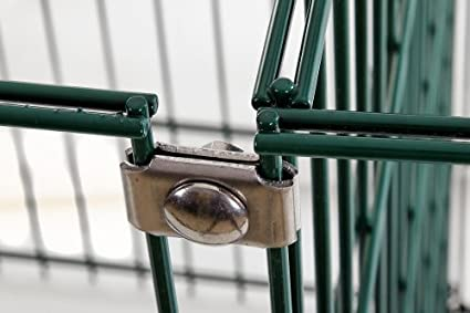 Conector Corner de plaquetas para valla, driller GmbH, compostador, doble varilla esteras