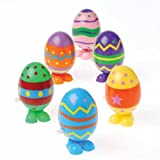 DollarItemDirect Wind UP Easter Eggs , Sold by 4 Dozens