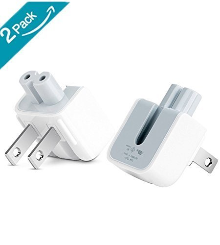 Mac AC Wall Adapter Plug Duckhead US Wall Charger AC Cord US Standard Duck Head for MacBook Mac iBook/iPhone/iPod AC Power Adapter Brick (2 PCs)