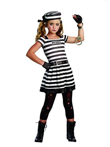 SugarSugar Girls Hannah Cuffs Costume, One Color, Small, One Color, Small (Girl Prisoner Costume)