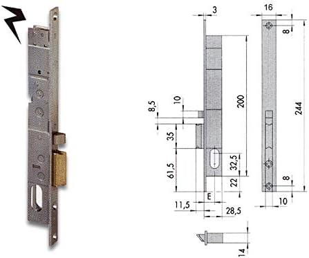 Cisa f05-30103 14020-18-2 - Cerradura eléctrica para cilindro OV SX: Amazon.es: Bricolaje y herramientas