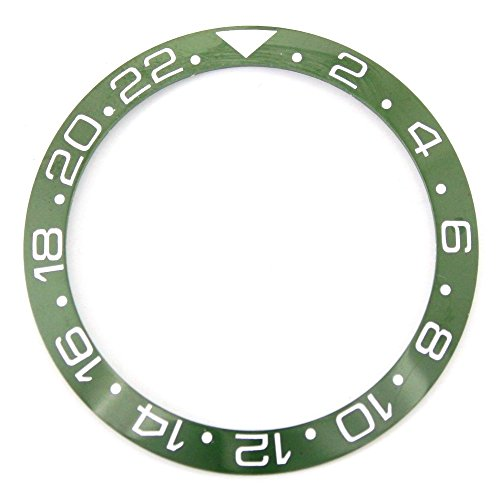 40.0MM Bezel Insert to Fit Rolex GMT - Green/White Ceramic ()