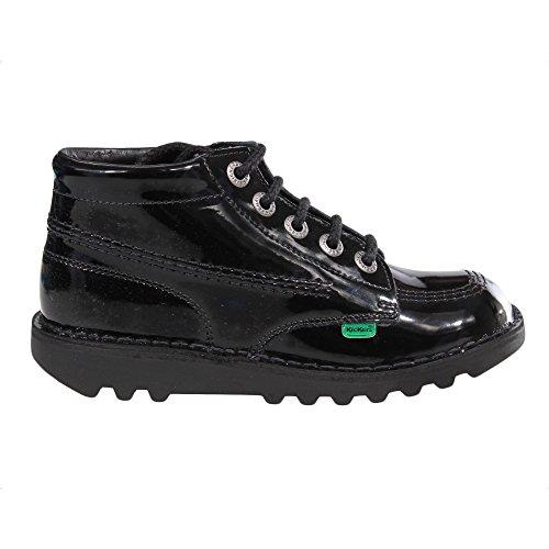 Kickers Kickers Hi Verni Fille Junior Ecole Chaussures Bottes Noir, Noir - noir, 31