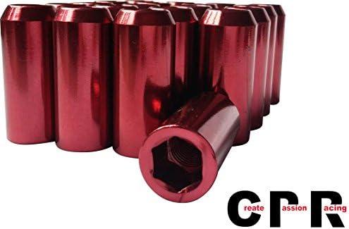 品質の良い合金鉄内六角ホイルナット(inner hex ) 48mm inner hex M12 * 1.5赤