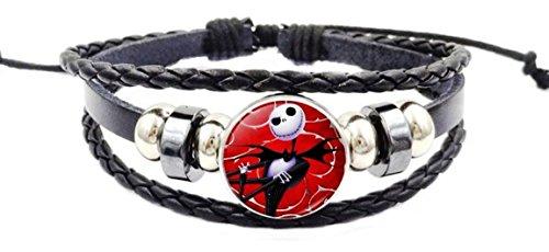 Main Street 24/7 Nightmare Before Christmas Jack Skellington Glass Domed Braided Bracelet