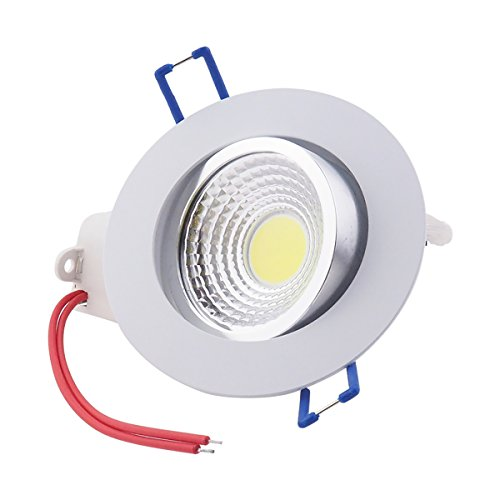 Pack of 10,Pocketman 7W 700 lumens 3.4 Inch LED COB Energy Saving Recessed Ceiling Downlight kit With LED Driver(Cool White,6300-7000K) by POCKETMAN (Image #4)