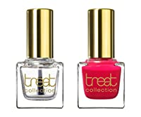 treat collection Natural Nail Polish Duo, Top and Base Coat, A Special Something, 2 Count