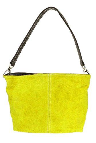 Tote Yellow Genuine Bag HandBags Handbag Shoulder New Suede Leather Girly q4O8wpzP