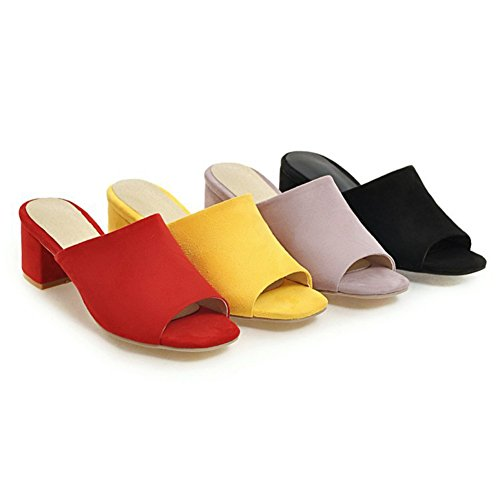 Heeled Outdoor On Btrada Open Shoes Casual Slide Crude Purple Sandals Summer Dress Slip Women's Toe Wedge qqHtv