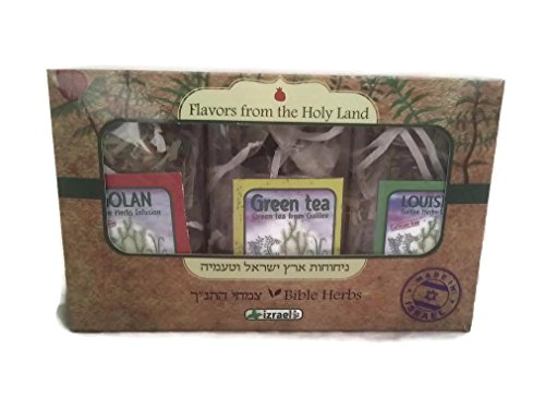 Set of 3 Types of Biblical Galilee Herbal Infusions / Tisanes from the Holyland in Gift Presentation ()