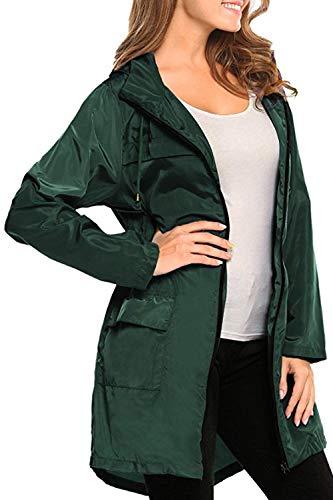Manteau Green Yacun Cirés Waterproof Femmes Le Les Outdoor Imperméable 8rxrqRwC