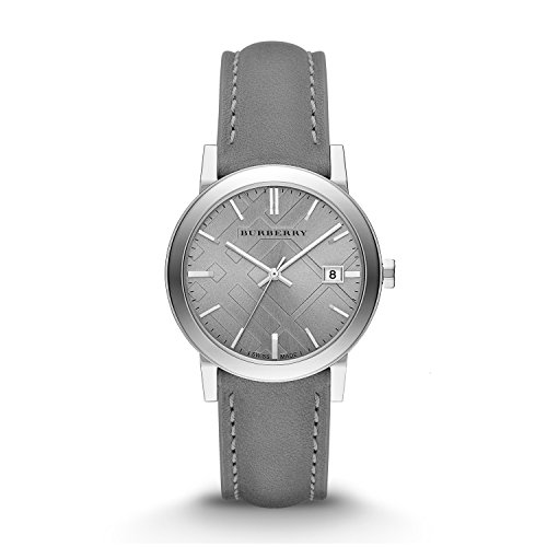 Burberry Light Grey Dial Grey Leather Ladies Watch BU9036 by BURBERRY