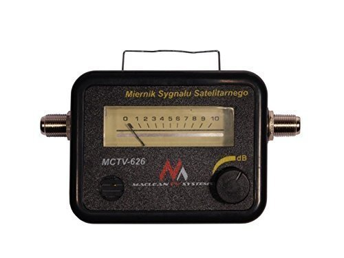 Maclean MCTV-626 Satellite Finder Signal Strength Meter Sky Freesat Hotbird Polesat Buzzer Analog