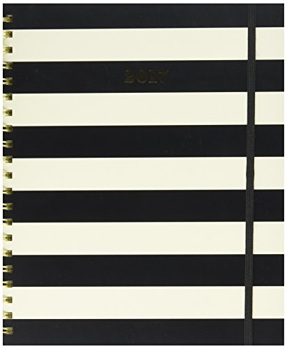 kate spade new york 2016-17 Jumbo Spiral Agenda, Black Stripe