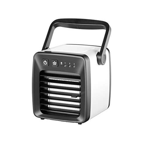 Mini Air Conditioner Fan USB Charging Portable Refrigerator Air Cooler Air Freshener (Black) ()