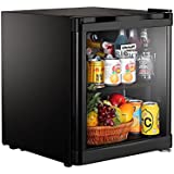 Kitchoff Black 50 Litre Aluminium & Glass Door Mini Refrigerator For Home & Office(Kitchoff001)
