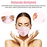 Wecolor 100 Pcs Disposable 3 Ply Earloop Face
