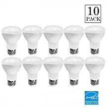 10-Pack BR20 LED Bulb Dimmable,7w (50w equivalent),5000k Daylight Glow,CRI90+,525 Lumens,120° Beam Angle,Medium Base E26,UL-list and ENERGY STAR (L:3.7'',D:2.44'')