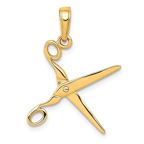 14k 3-D Moveable Scissors Pendant ()