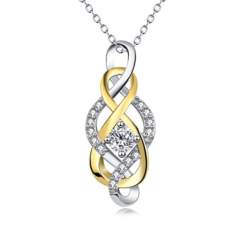 Ddang - 925 Sterling Silver CZ Pendant Cross Infinity Love Knot Crystal Necklace 18'' choker necklace JEW 0381 - 18' Heavy Duty Stool