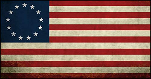- American Vinyl Old Vintage Betsy Ross Flag Sticker (Trump Anti Kaepernick Nike us USA Patriotic Distressed)