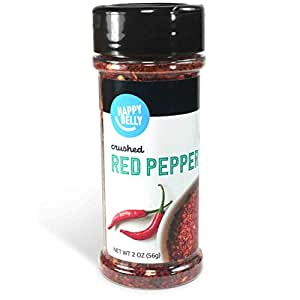 Amazon Brand - Happy Belly Red Pepper, Crushed, 2 Ounces