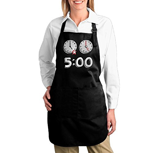 Costume Contest Meme (Dogquxio Five O'clock Kitchen Helper Professional Bib Apron With 2 Pockets For Women Men Adults Black)