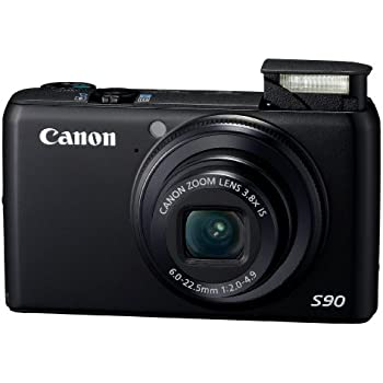 Canon PowerShot S90 10MP Digital Camera with 3.8x Wide Angle Optical Image Stabilized Zoom and 3-Inch LCD (OLD MODEL)