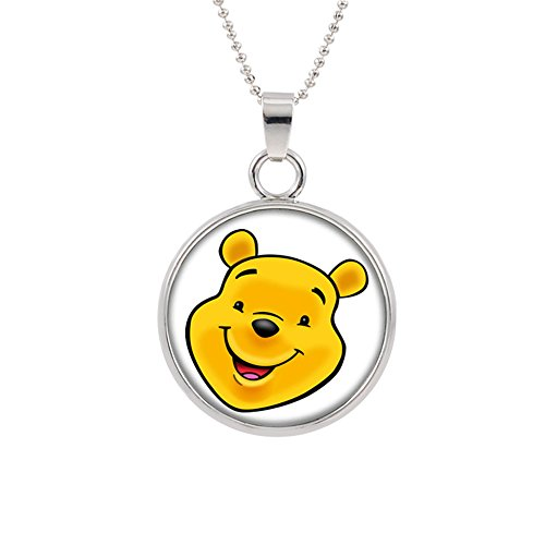 Athena Brands Winnie The Pooh Fashion Novelty Pendant Necklace Movie Cartoon Series with Gift Box