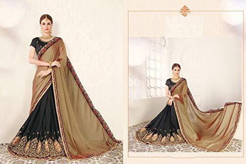 Donne Abiti Georgette Ethnic Vestono Bollywood Festa Etnico Sari Da Emporium Collezione 7301 Indiano Eleganti W1fq1x68vw