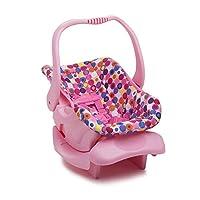 Asiento de carro de juguete de muñeca - Punto rosado