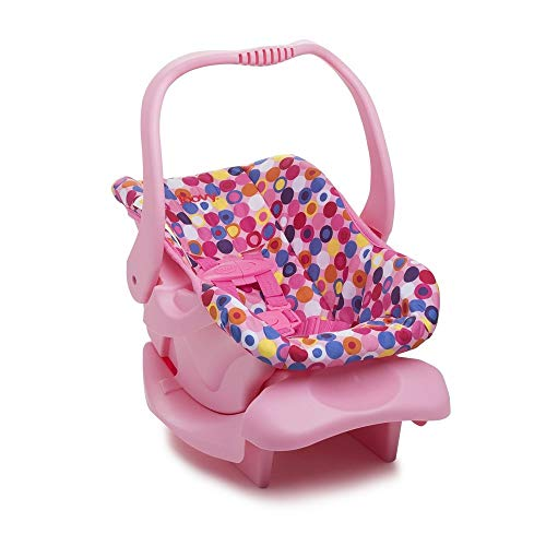 Doll Toy Car Seat - Pink Dot - Learn Car Carrier