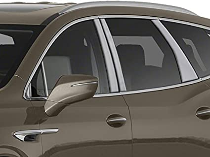 2018-2019 Buick Enclave 6Pc Chrome Pillar Post Trim Stainless Steel Door Cover
