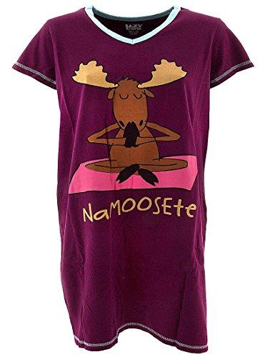 LazyOne Mujer Na-Moose-te Camisa Dormir V Neck