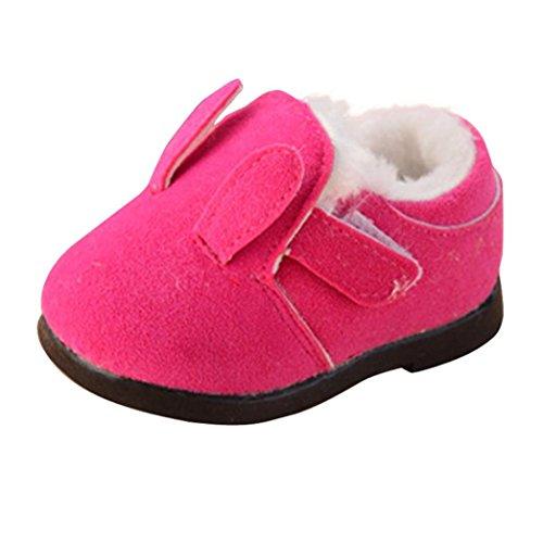TPulling Mode Junge Und Mädchen Herbst Und Winter Kinder Süße Hasenohren Warme Baumwollschuhe Lässige Schuhe Pink