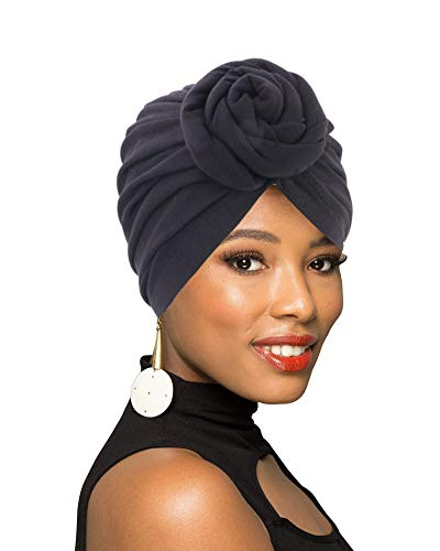 (1Pack/2Packs Women Turban African Pattern Knot Headwrap Beanie Pre-Tied Bonnet Chemo Cap Hair Loss Hat )