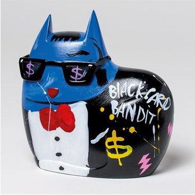 Unicorn Studios ST00606 Big City Cat Blue Sammy Sculpture by Selwyn (Sammy Cat)