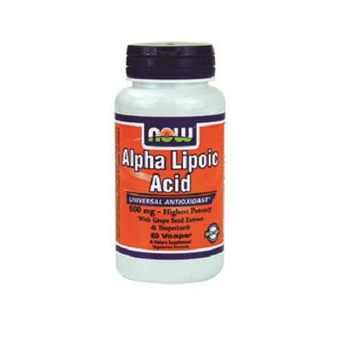 NOW FOODS Alpha Lipoic Acid 600mg Vcaps, 60 Count Review